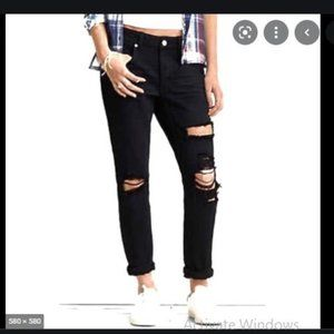 3/$30 AEO Tomgirl Distressed Jeans Black Size 2